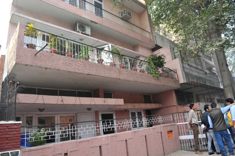 The residence of Manohar Lal Madan (86), a retired Punjab National Bank employee, and his wife Vimla Madan (80) where they were found dead, at East of Kailash in New Delhi on Nov. 13, ...