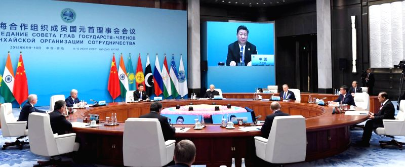 The Restricted Session of the Shanghai Cooperation Organisation (SCO) Summit underway in Qingdao, China on June 10, 2018.