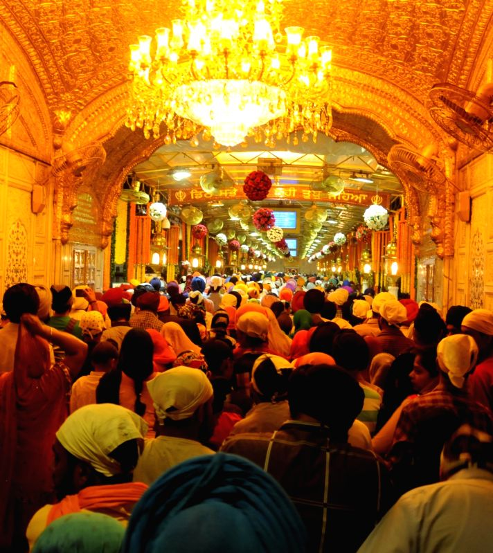 The SGPC didn`t illuminate Golden Temple on occasion of Gurpurab of Guru Ram Das due to incessant incidents of desecration of Guru Granth Sahib in Amritsar, on Oct 28, 2015.