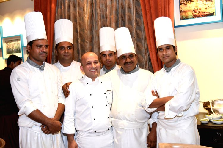 The team of chefs from Rampur at the festival