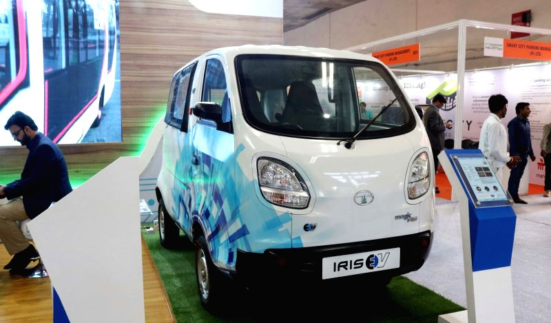The Third Smart Cities India 2017 Expo underway at Pragati Maidan in New Delhi on May 10, 2017.