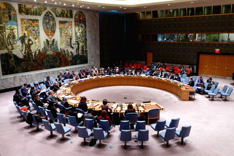"""The UN Security Council holds a meeting on """"Security, Development and the Root Causes of Conflict"""", at the UN headquarters in New York Nov. 17, 2015. ..."""