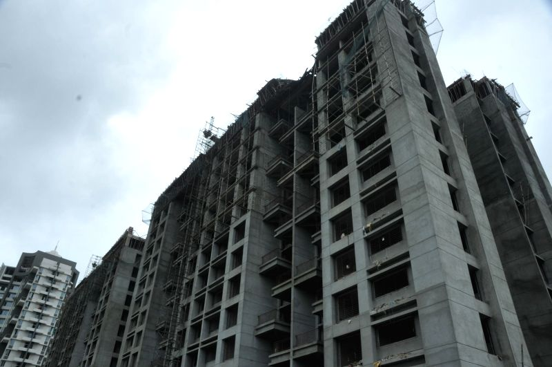 The under-construction building where ten labourers were killed and three others critically injured when the slab crashed on them; in Pune on July 29, 2016.