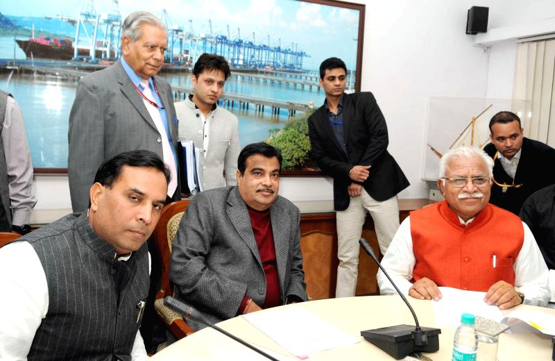 The Union Minister for Road Transport and Highways, and Shipping, Nitin Gadkari meets Haryana Chief Minister Manohar Lal Khattar to discuss the issues of Kundli-Manesar-Palwal, KMP Expressway and ... - Manohar Lal Khattar