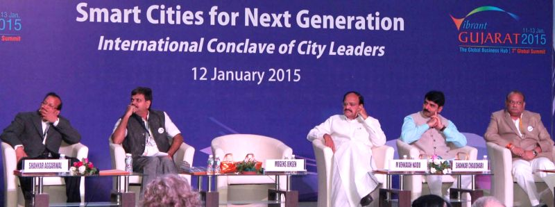 The Union Minister for Urban Development, Housing and Urban Poverty Alleviation and Parliamentary Affairs M. Venkaiah Naidu participates in a panel discussion on the `Smart Cities for Next Generation - M. Venkaiah Naidu
