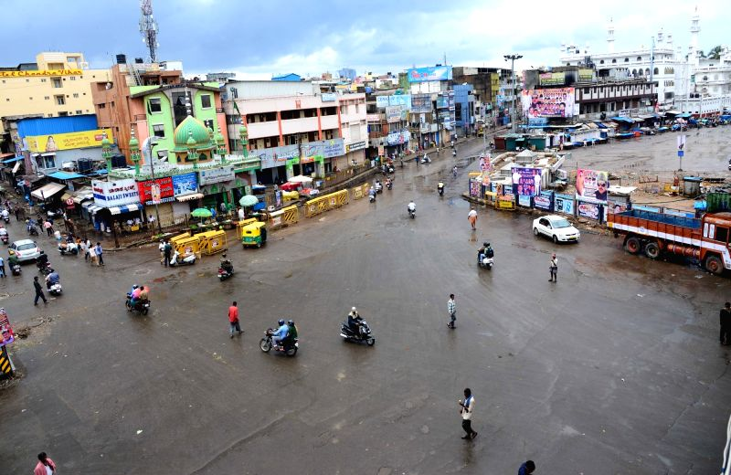 The usually busy KR Market worse a deserted look following the Pro-Kannada organisations and Farmers Associations called for a Karnataka bandh condemning the Mahadayi Water dispute ...