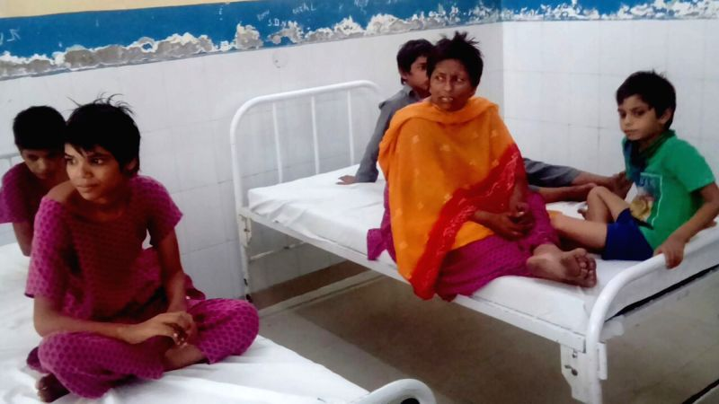 The victims being treated at a civil hospital following suspected food poisoning in a home for mentally challenged children in Punjab's Kapurthala town on Aug 2, 2016. At least two ...