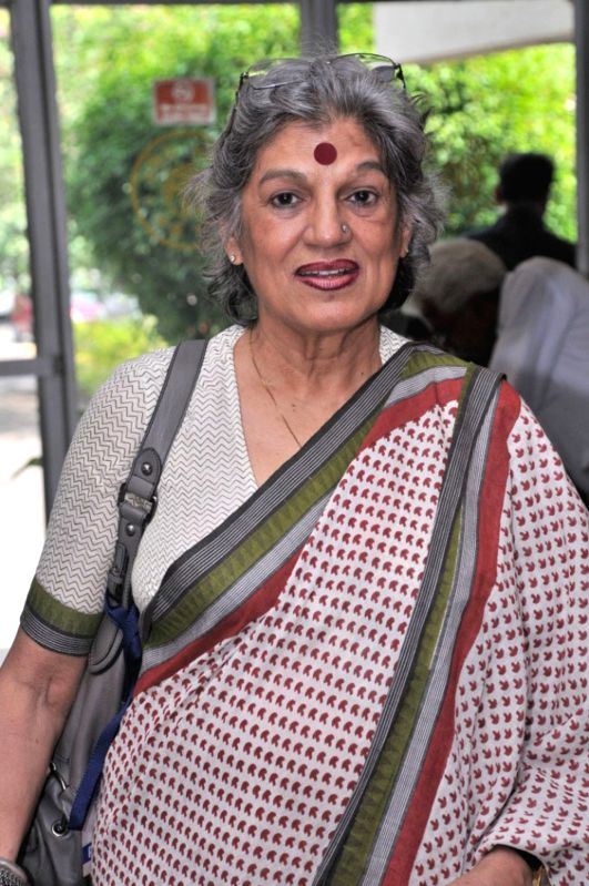 Theatre actress and casting director Dolly Thakore during the presentation of Nobel Laureate Sir Vidiya Naipaul's  Landmark Literature Live Lifetime achievement award in Mumbai.