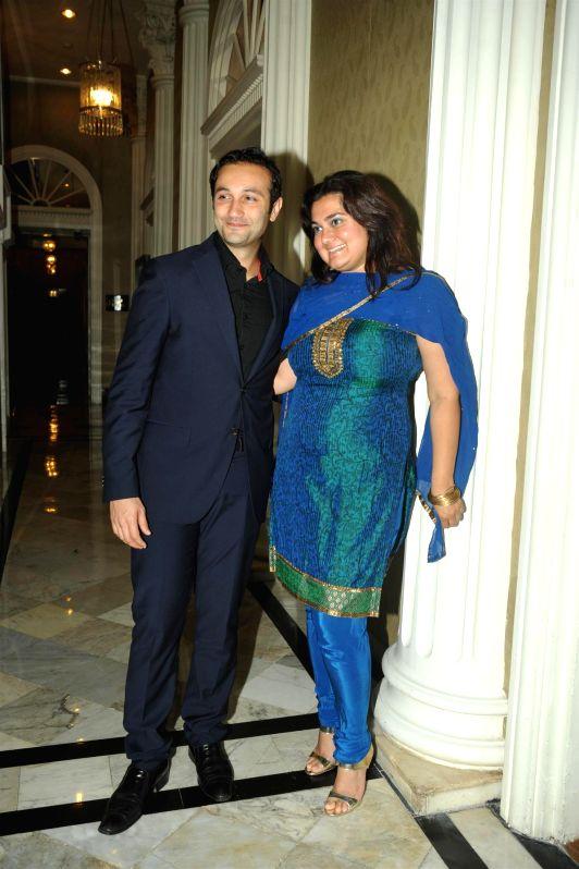 Theatre personality Divya Palat and television actor husband Aditya Hitkari during the North East India Festival organised by Taj Mahal Palace in Mumbai on May 17, 2014.