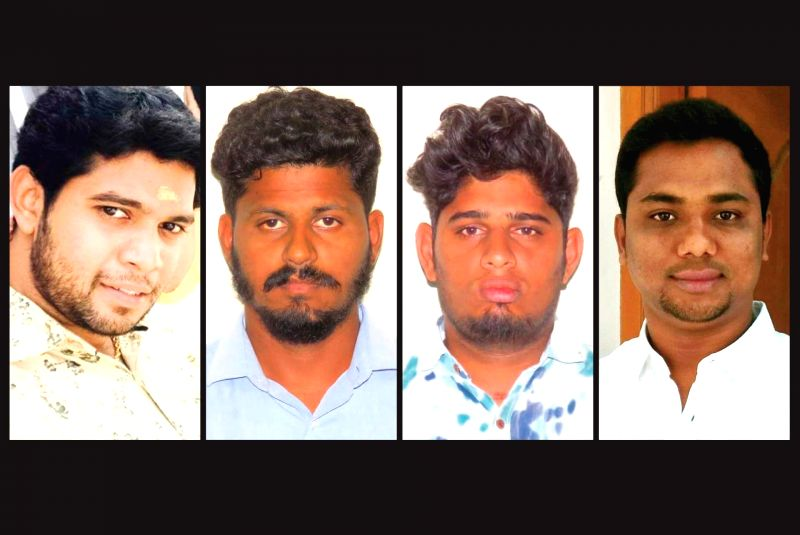 Thirunavukkarasu, Sabarirajan, Vasanthakumar and Satish - the four youths who were arrested in connection with the sexual assault of young girls in Pollachi, Tamil Nadu. (File Photo: IANS)