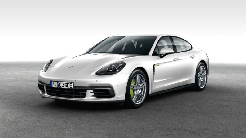 This photo provided by Porsche Korea on Aug. 6, 2018, shows the Porsche Panamera 4 E-Hybrid model released in South Korea on the day.