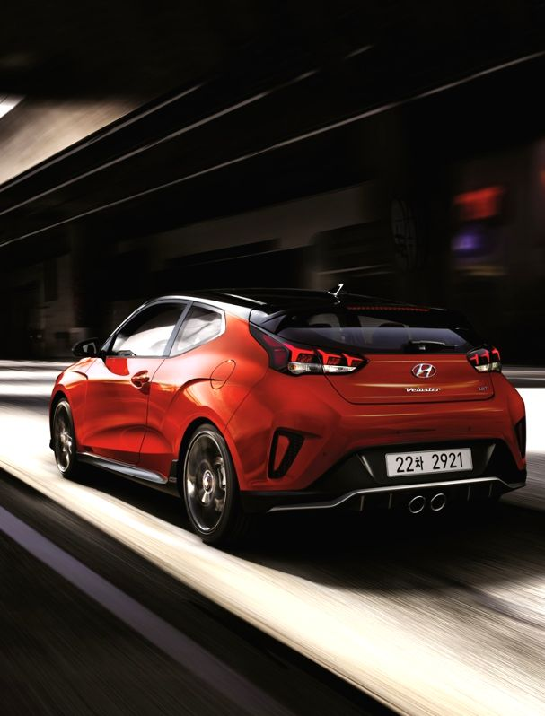 This photo shows Hyundai Motor Co.'s fully revamped Veloster hatchback. Hyundai said on Feb. 1, 2018, it has begun accepting pre-orders for the all-new Veloster, which comes in 1.6 turbo gasoline and ...