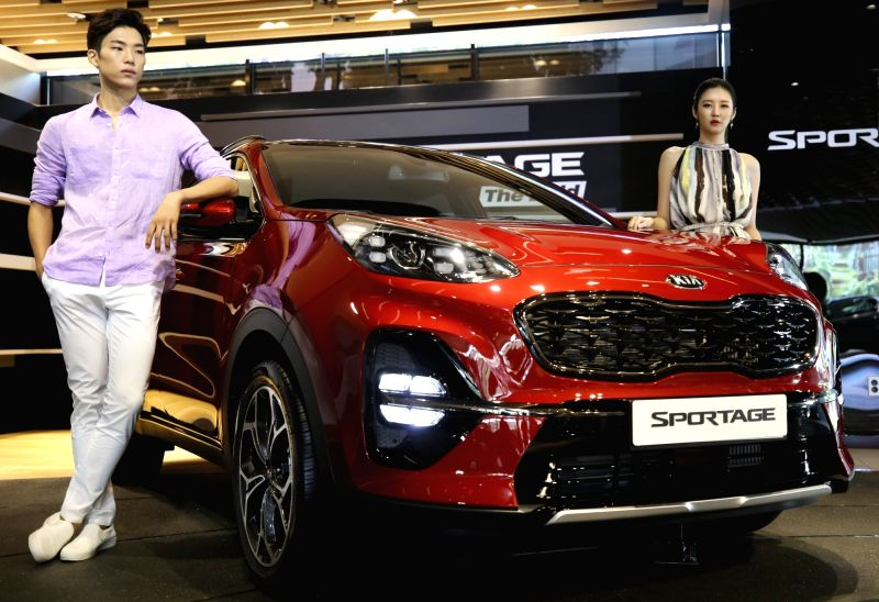 This photo taken on July 24, 2018, and provided by Kia Motors shows the Sportage The Bold model displayed in Beat 360, the carmaker's exhibition space, in southern Seoul.