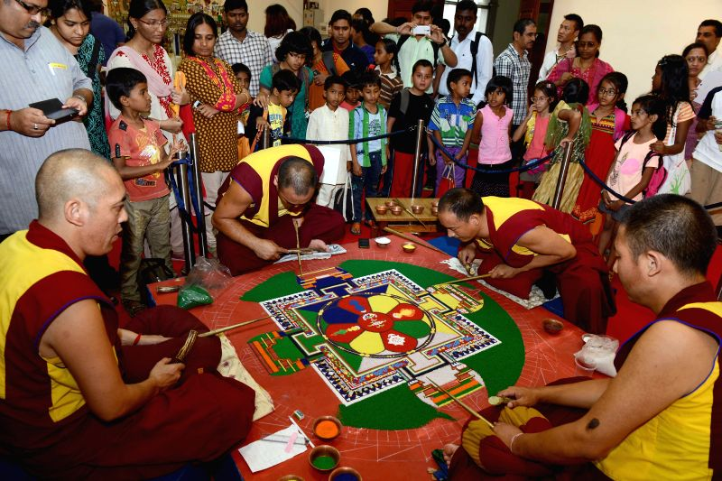 Tibetans during inauguration of `Tibet Festival 2014` at Chitrakala Parishath in Bangalore on July 6, 2014.