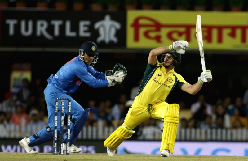 Tim Paine of Australia during the first T20 match between India and Australia at JSCA International Stadium in Ranchi on Oct 7, 2017.