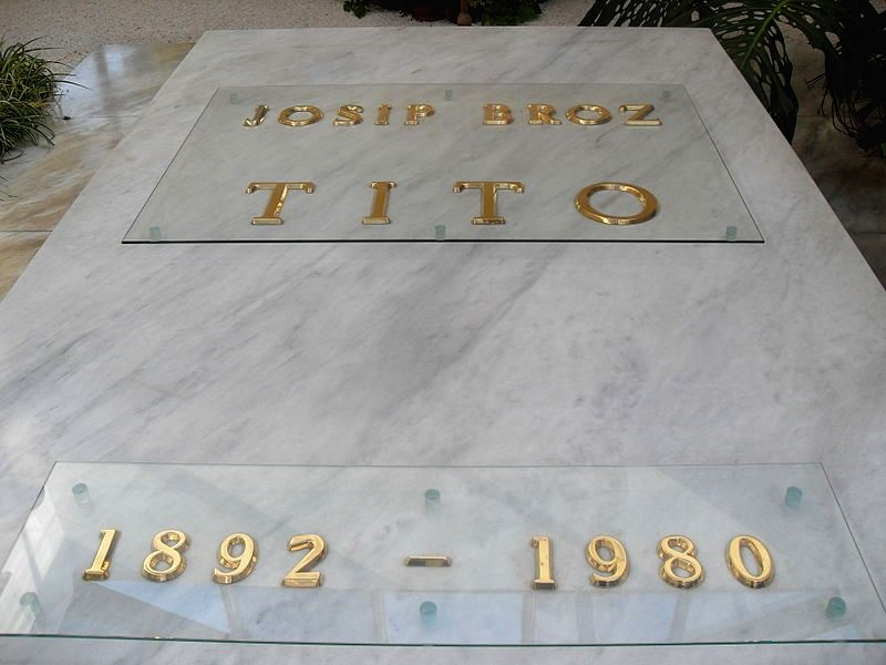 Tito's grave at House of Flowers in Belgrade.