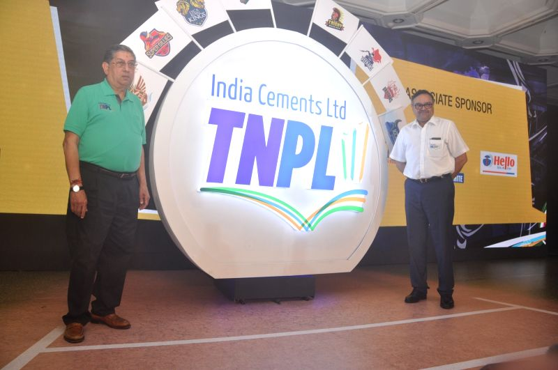 TNCA Executive Committee member and former International Cricket Council Chairman, N Srinivasan and Tamil Nadu Cricket Association (TNCA) Vice-President PS Raman during a programme organised ...
