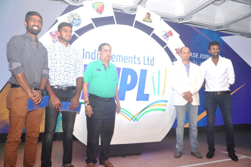 TNCA Executive Committee member and former International Cricket Council Chairman, N Srinivasan, Tamil Nadu Cricket Association (TNCA) captains Vijay Shankar (limited-overs tournaments), ...
