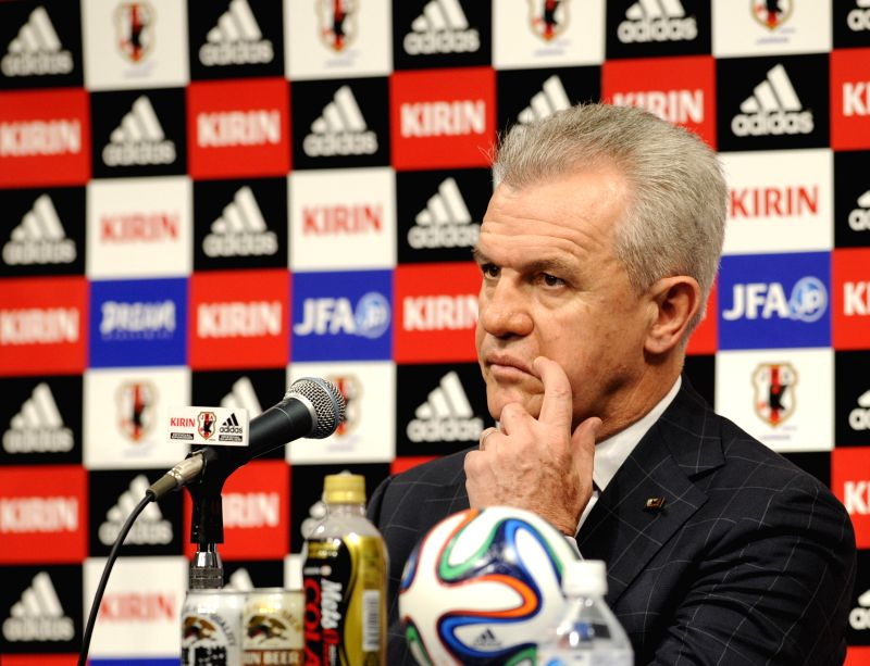 Japan's new national football team head coach Javier Aguirre of Mexico attends a press conference in Tokyo, Japan, Aug. 11, 2014.