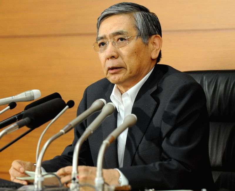 The Bank of Japan (BOJ) Governor Haruhiko Kuroda speaks at a press conference in Tokyo, Japan, Aug. 8, 2014. BOJ announced that it expects Japan's economy to continue .