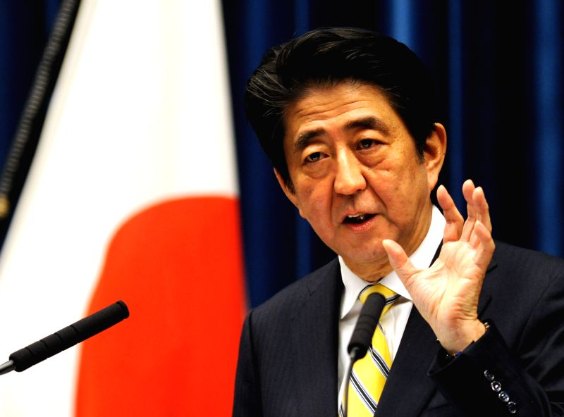 Japanese Prime Minister Shinzo Abe speaks during a press conference at his official residence in Tokyo, Japan, Nov. 21, 2014. Japan dissolved the House of Representatives, or the lower house .. - Shinzo Abe