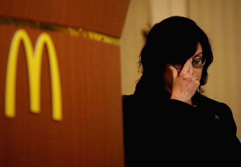 Sarah Casanova, President and Chief Executive Officer of McDonald's Holdings Japan, attends a press conferece in Tokyo, Japan, July 29, 2014. McDonald's Holdings ...