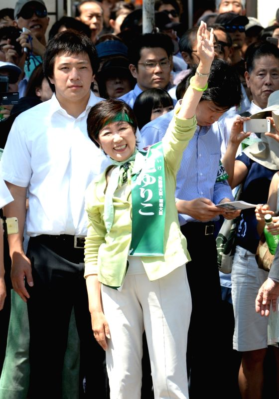 TOKYO, July 31, 2016 - Japan's former Defense Minister Yuriko Koike attends an election campaign in Tokyo, capital of Japan, on July 30, 2016. Former Defense Minister Yuriko Koike is set to win Tokyo ... - Yuriko Koike