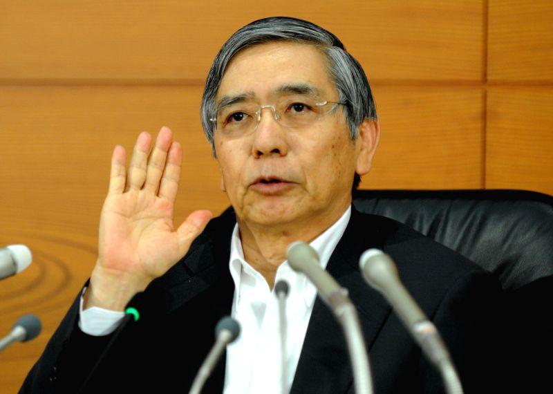 Bank of Japan (BOJ) Governor Haruhiko Kuroda attends a press conference at the BOJ's headquarters in Tokyo, Japan, Sept. 4, 2014.