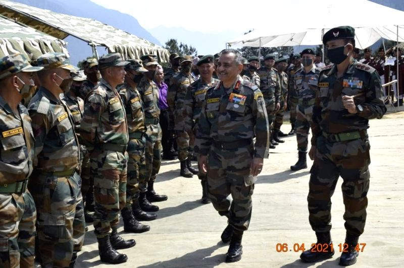 Top Army officer's visit in forward locations of Arunachal