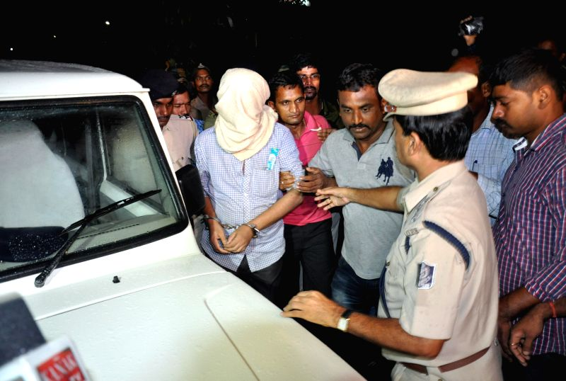 Top ranking Maoist leader Sabyasachi Panda being taken to Berhampur Circle jail in Odisha on July 18, 2014.