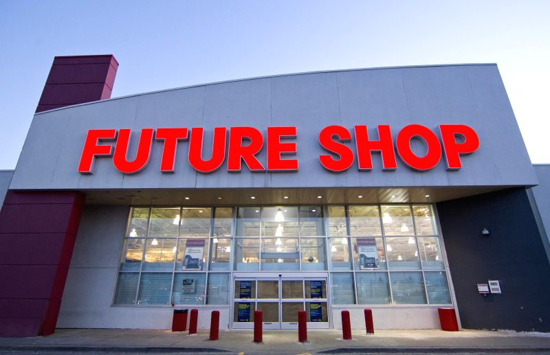The photo taken on March 28, 2015 shows a closed Future Shop store in Mississaga, Ontario, Canada. Best Buy Canada Ltd. announced that it decided to close 66 of ...