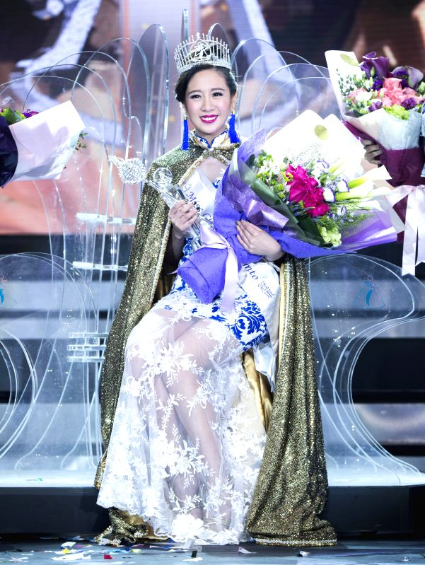 TORONTO, Nov. 25, 2017 - Winner Tiffany Choi poses for photos during the awarding ceremony of the 2017 Miss Chinese Toronto Pageant final in Toronto, Canada, Nov. 24, 2017. Tiffany Choi, 23 years ...