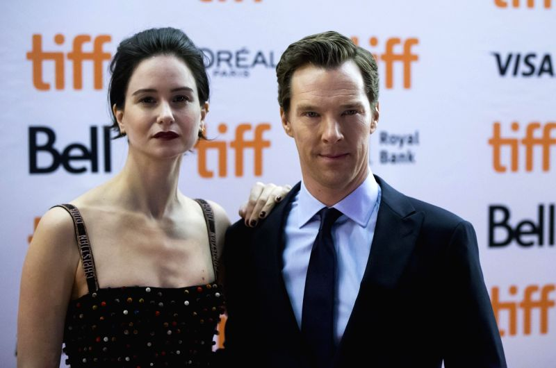 "TORONTO, Sept. 10, 2017 - Actor Benedict Cumberbatch (R) and actress Katherine Waterston attend the premiere of the film ""The Current War"" at Princess of Wales Theatre during the 2017 ... - Benedict Cumberbatch"