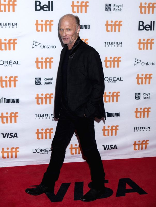 "TORONTO, Sept. 11, 2017 - Actor Ed Harris poses for photographs at the North American premiere of the film ""Mother!"" at Princess of Wales Theatre during the 2017 Toronto International Film ... - E"