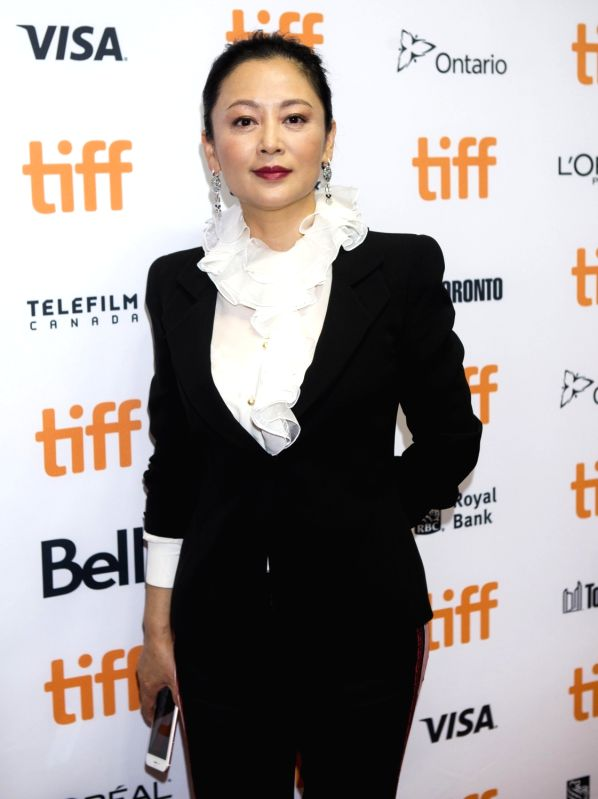 "TORONTO, Sept. 11, 2017 - Director Chen Kaige's wife Chen Hong attends the sneak peek of his new film ""Legend of the Demon Cat"" at the 2017 Toronto International Film Festival in Toronto, ..."