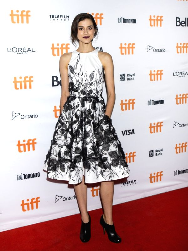 "TORONTO, Sept. 15, 2017 - Actress Rebecca Liddiard poses for photographs at the world premiere of the film ""Alias Grace"" at Elgin Theatre during the 2017 Toronto International Film Festival ... - Rebecca Liddiard"