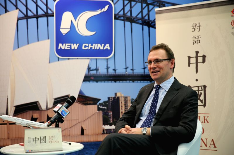Tourism Australia (TA) managing director John O'Sullivan receives an interview at Xinhua in Sydney, Australia, July 10, 2015. A fundamental shift is taking place in ...