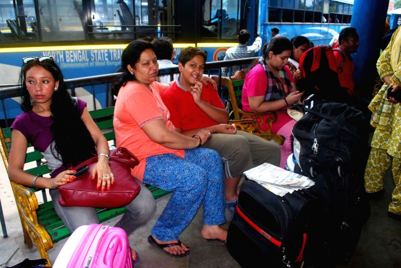 Tourists stranded in Siliguri as Gorkha Janmukti Morcha (GJM) called a 12-hour strike in north Bengal hills  on June 9, 2017.