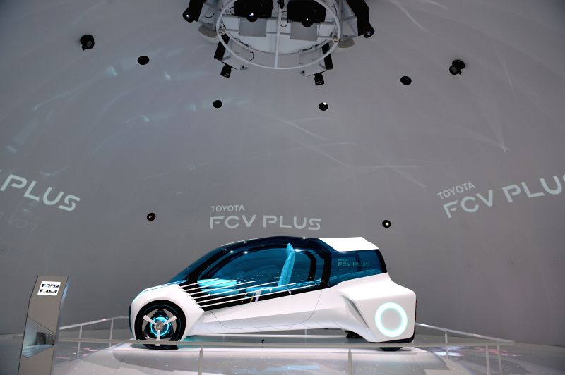 Toyota FCV Plus is displayed at the Tokyo Motor Show in Tokyo, Japan, Oct. 29, 2015. The 44th Tokyo Motor Show opened to the public on Thursday with the participation ...