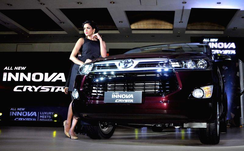 Toyota Kirloskar Motor launches new Innova Crysta in Kolkata, on May 12, 2016.