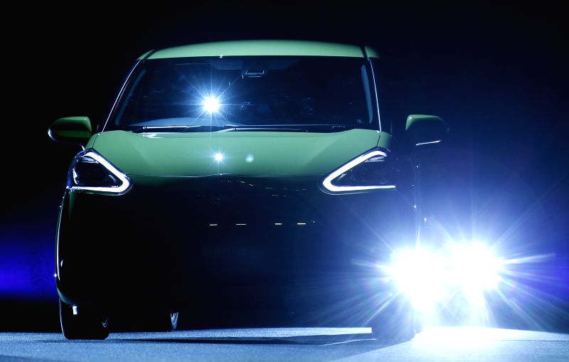 "Toyota's new model car of ""Sienta"" is seen during a press conference in Tokyo, Japan, July 9, 2015. Sienta will be put into the market from Thursday with the ..."
