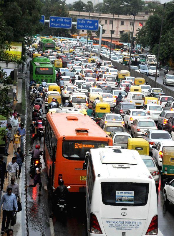 Traffic jam at ITO of New Delhi on Sept 3, 2014.
