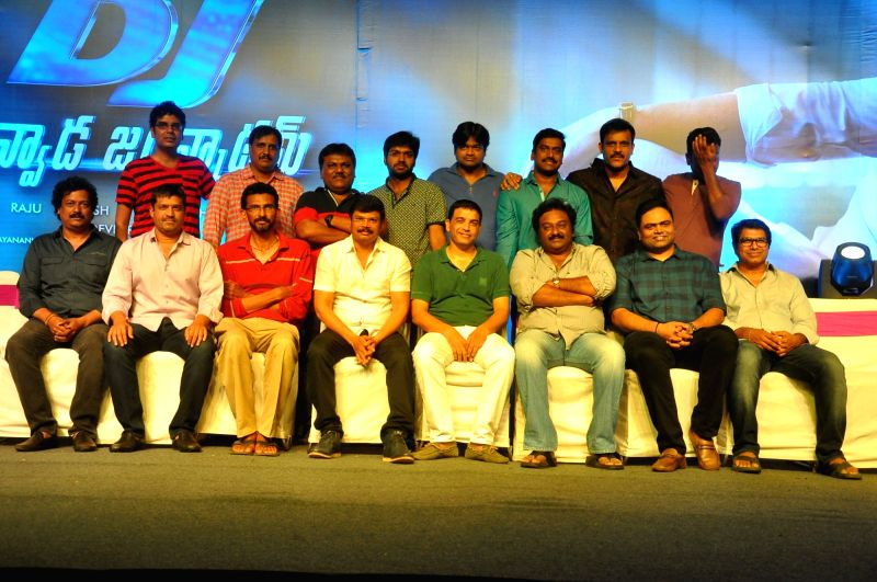 Trailer launch of his upcoming film Duvvada Jagannadham, on Hyderabad, June 5, 2017.