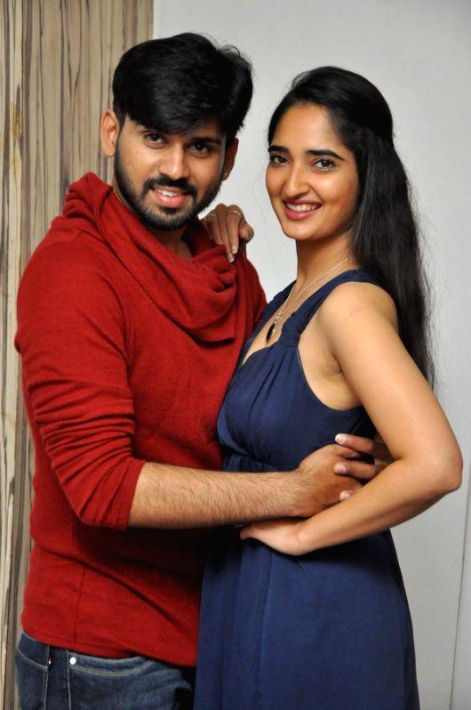 "Trailer launch stills from Telugu film ""Prema Entha Madhuram Priyuralu Antha Katinam"" in Hyderabad."