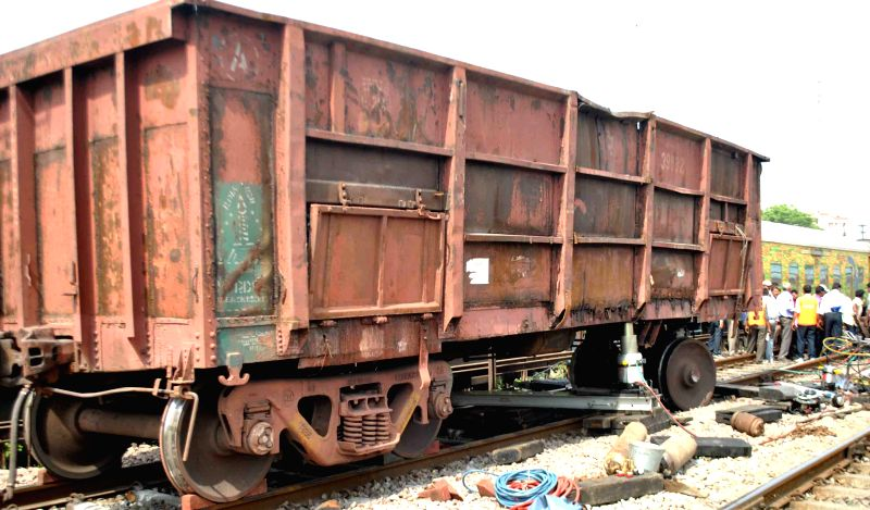 Trains got delayed due to a damged wheel of a goods train resulted disturbance on the entire Delhi-Howrah route for over eight hours in Allahabad on July 4, 2015.