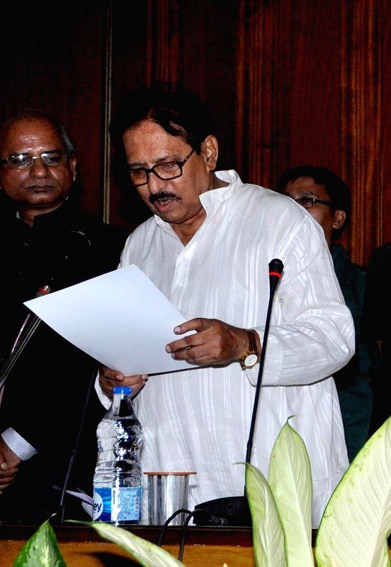 Trinamool Congress leader Biman Banerjee takes oath as a legislator at the West Bengal Assembly in Kolkata, on May 28, 2016. - Biman Banerjee