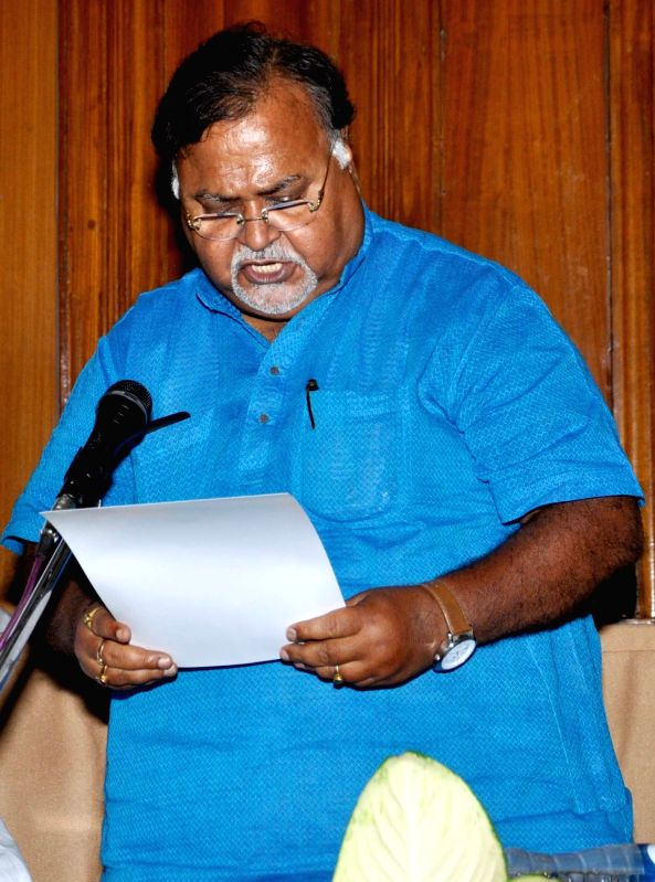 Trinamool Congress leader Partha Chatterjee takes oath as a legislator at the West Bengal Assembly in Kolkata, on May 28, 2016. - Partha Chatterjee