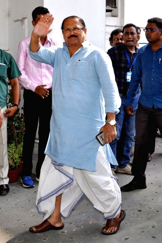Trinamool Congress leader Subrata Mukherjee arrives at the West Bengal Assembly in Kolkata, on May 28, 2016. - Subrata Mukherjee