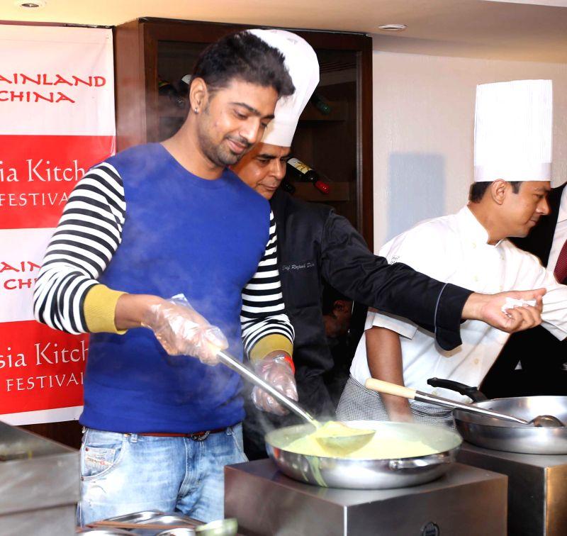Trinamool Congress MP actor Deb (Deepak Adhikari)at the launch of Asia Kitchen Festival in Kolkata on Sep 2, 2014. - Deb