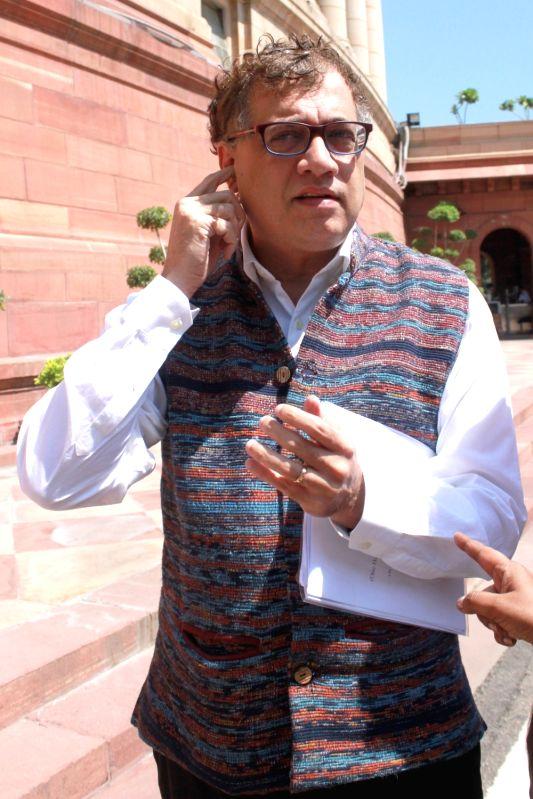 Trinamool Congress MP Derek O'Brien at Parliament in New Delhi, on Aug 3, 2016.